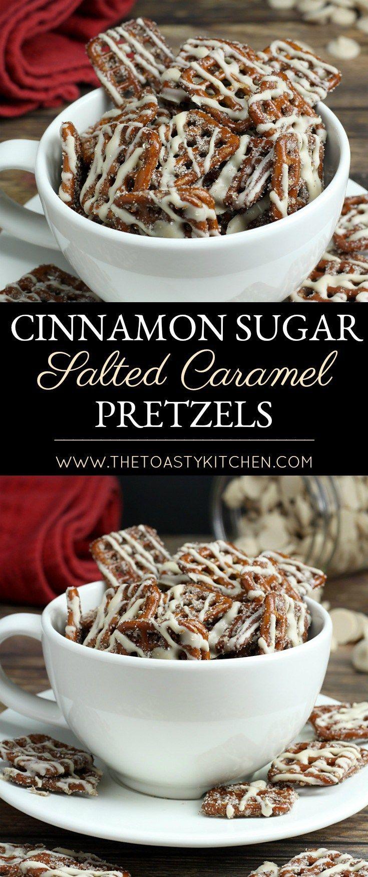 Cinnamon Sugar Salted Caramel Pretzels by The Toasty Kitchen
