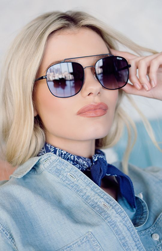 Quay Australia | To Be Seen Sunglasses - Black/Smoke | peppermayo.com