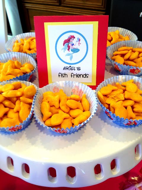 Princess Birthday Party Food Ideas - Ariel's Goldfish (or Blue from MH)
