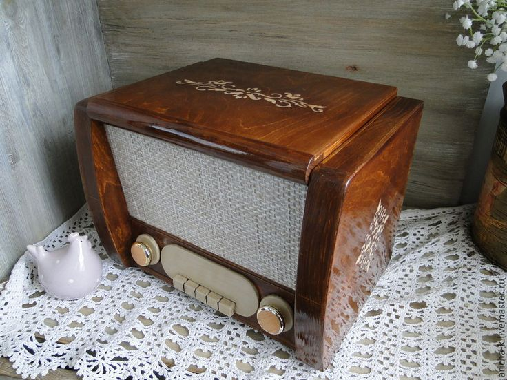 """Купить Комод в стиле ретро """"Радиола"""" - коричневый, ретро, ретро стиль, упаковка для подарка"""