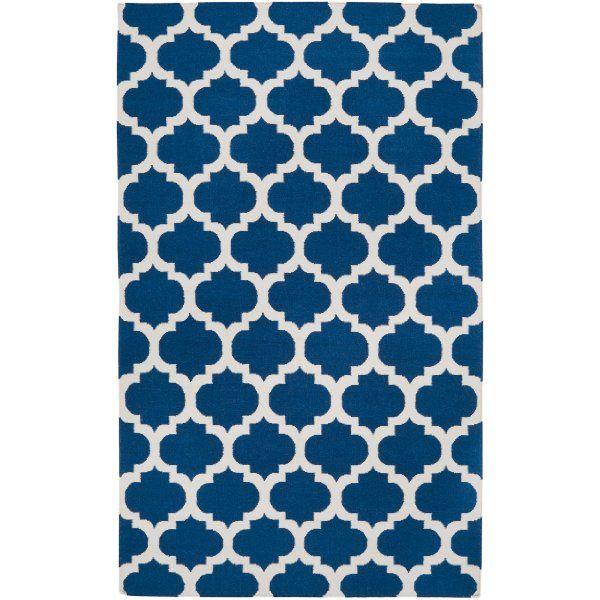 Surya Frontier FT-84 Flatweave Hand Woven 100% Wool Midnight Blue 5' x 8' Global Area Rug:Amazon:Home & Kitchen