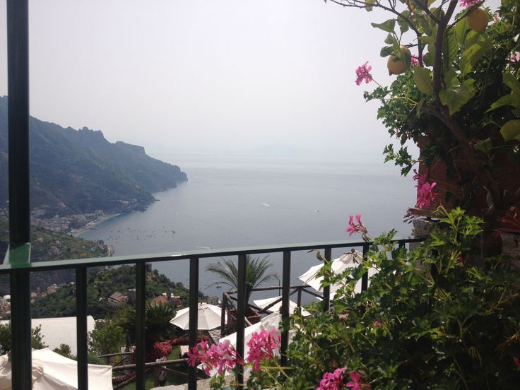 Breathtaking view from the balcony of one of Ravello's most exclusive hotels, set high above the Amalfi Coast!