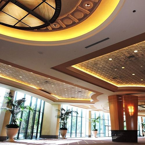 Deco 1 - Circle | Contemporary Ceiling Tile at the MGM Conference Center Las Vegas, NV