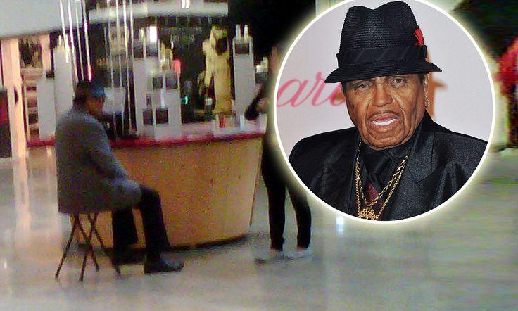 Pictured: Joe Jackson selling cheap fragrances in dreary Las Vegas mall