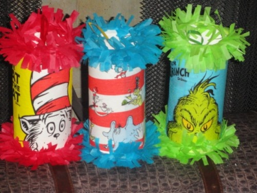 Dr.Seuss Cat In The Hat Birthday Party Mini Pinatas Goody Bags Favor