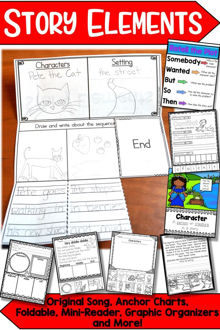 Story Elements Practice Activities And Worksheets Are A Fun Way To Teach Characters Setting Plot C Story Elements Activities Mini Readers Graphic Organizers [ 1104 x 736 Pixel ]
