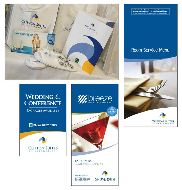 Clifton Suites on Northbourne Branding