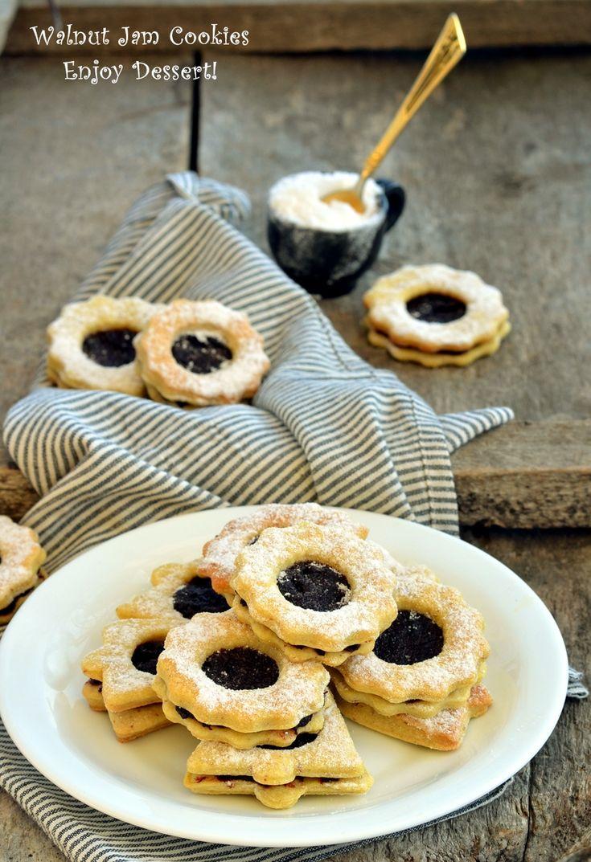 Walnut Jam Cookies