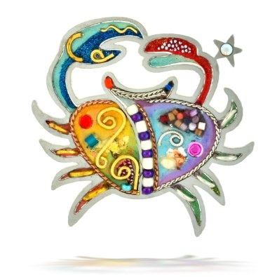 Sensitive Cancer the Crab Zodiac Pin from the Artazia Collection #904 MP: Jewelry: Amazon.com