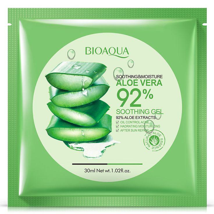 Bioaquaアロエベラゲル保湿フェイスマスクオイルコントロールにきび治療ライトスキンシュリンク毛穴フェイススキンケア