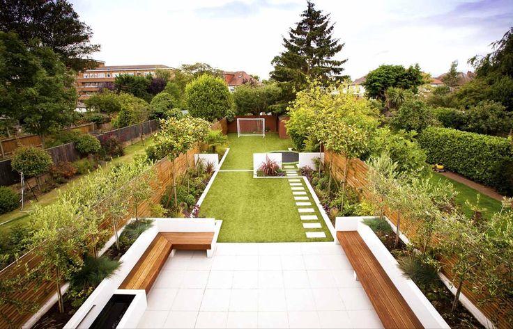 Long Narrow Garden Design Pictures and Long Garden Design