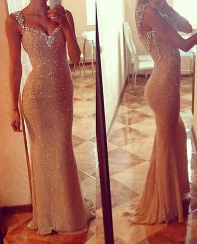 long prom dress, champagne prom dress, prom dress 2016, mermaid prom dress, dress gown, long evening dress, BD14505