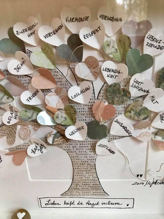 Tree of life with personal wishes