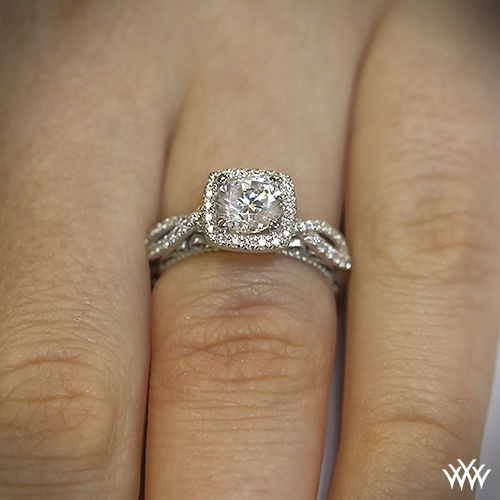 Verragio engagement rings on hand