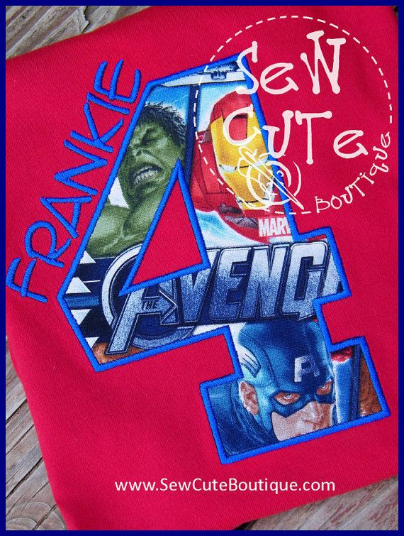 Avengers Super Hero Birthday Shirt  LIMITED by ThatsSewCute, $20.00