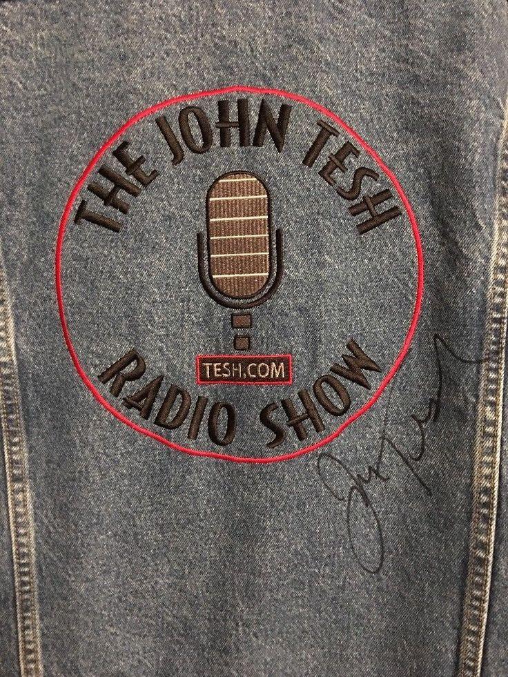 Lee Classic Denim Jean Jacket John Tesh Radio Show SIGNED Large  | eBay