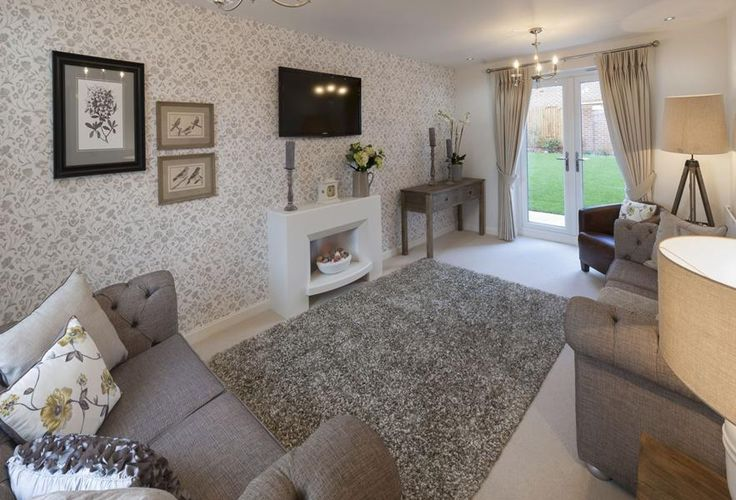 Barratt Homes   LINCOLN At Glenfield Park, Kirby Road, Glenfield, Leicester  Interior Designed Living Room With Calming Minky Grey Linens Accented By A  ...