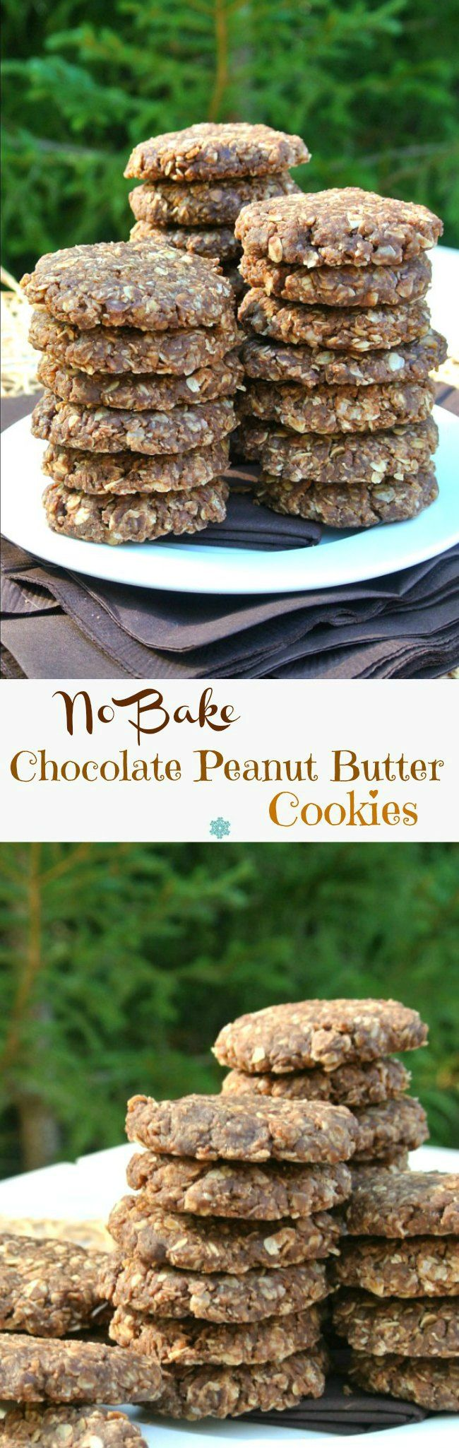 No Bake Chocolate Peanut Butter Cookies are a favorite, have no refined sugar, take 10 minutes to make, have the texture of a cookie. 5 Wins!  @Silk #DoPlants