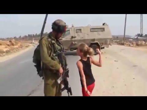 Israel Palestine War Videos   Hit the Israeli army, the Palestinian girl...