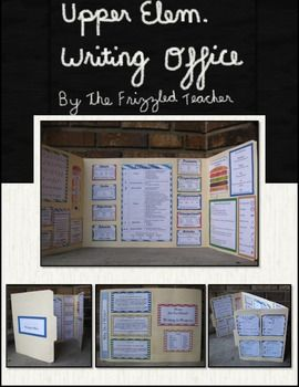 Writing office for grades 3-5. Parts of speech posters; punctuation poster; cursive poster; acrostics for editing revising, capitalization, and authors purpose; writing organization posters; editing and revising checklist; and writing process poster.