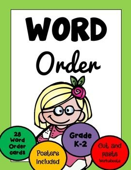 FREBIE!!! WORD ORDER Grades K to 2 - 37 pages, Print and Go!**Differentiated levels