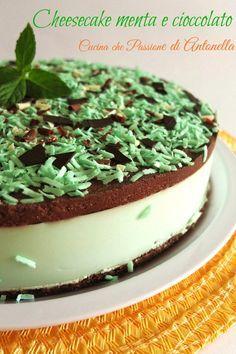 cheesecake menta e cioccolato blog cucina che passione di antonella