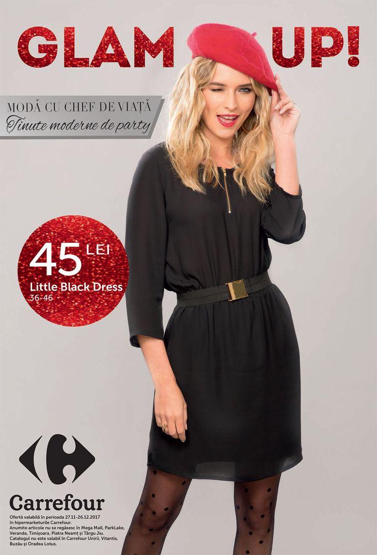 Catalog Carrefour Tinute de Party 27 Noiembrie - 26 Decembrie 2017! Oferte: Rochie din dantela 60 lei; Rochie cu volane 45 lei; Rochie fluida 45 lei
