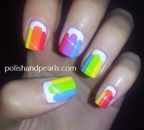 DIY Nails Art :Easy Rainbow Nails