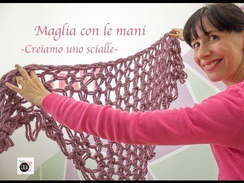 Come fare la maglia con le mani (con spiegazioni chiare per iniziare e chiudere il lavoro) - YouTube