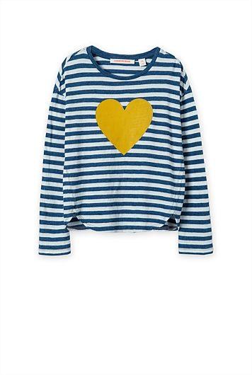 Stripe Heart T-Shirt