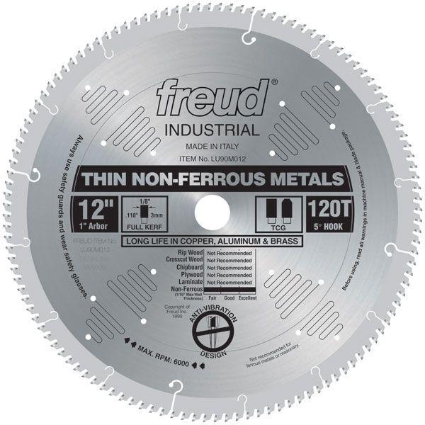 Lu90m012 Circular Saw Aluminium Saw Blade 12 X 1 Bore X 120 Tooth Tcg Circular Saw Blades Circular Saw Table Saw Blades