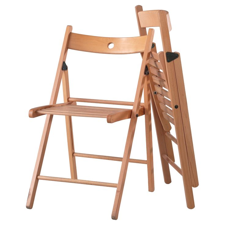 IKEA TERJE folding chair You can fold the chair, so it takes less space when you're not using it.