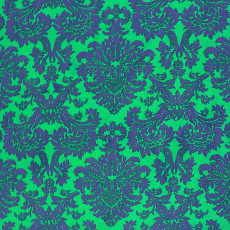 Printed Royal Blue U0026 Green Tablecloth