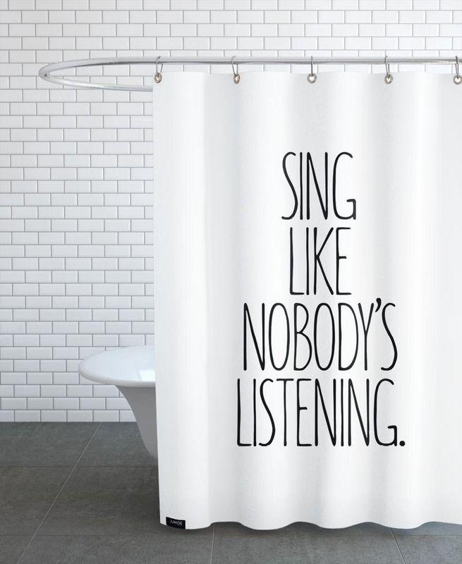 Sing en Rideau de douche par JUNIQE | JUNIQE