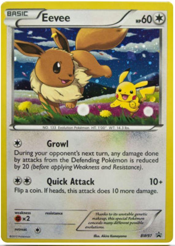 Eevee Bw97 Promo Holo 11 99 Poke Cartas Pinterest Pok 233 Mon And Pokemon Cards