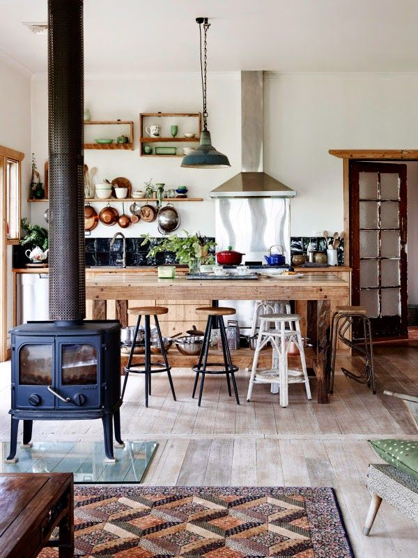 Rustic kitchen - Photo – Eve Wilson, production – Lucy Feagins / The Design Files.