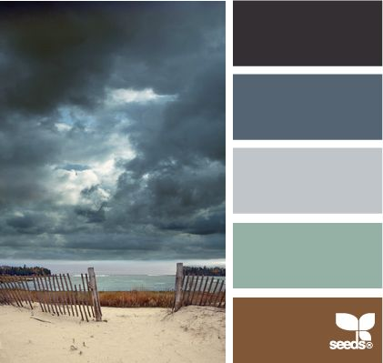 stormy tones: Color Palettes, Design Seeds, Living Room, Beach Color, Stormy Color