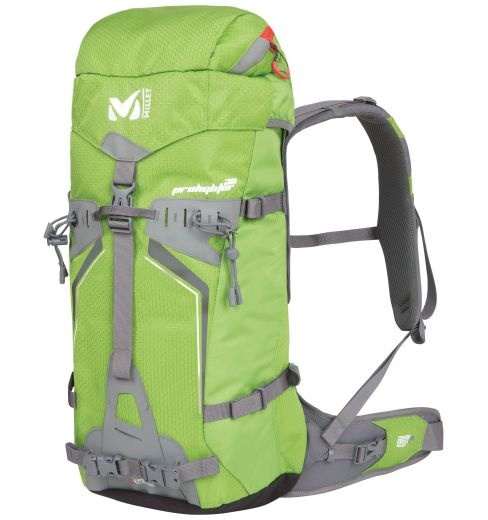 Prolighter 30  Millet mountain backpack for alpinism.  Technical backpack for year-round modern mountaineering: ice, snow, rock. Functional, strong and lightweight.