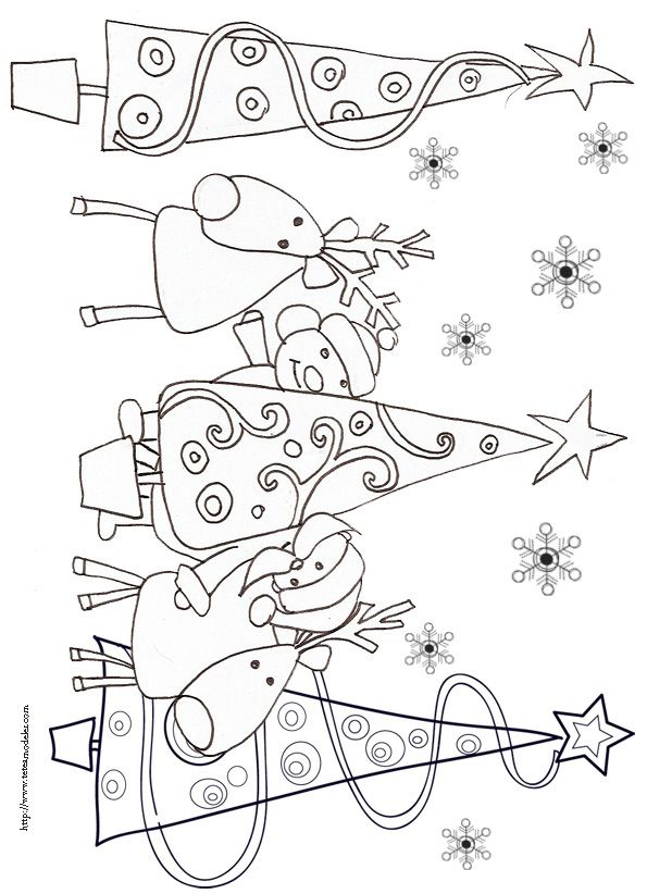 14 best Adult Coloring Pages - Christmas Trees images on Pinterest - best of coloring pages for christmas in france