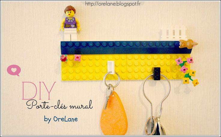 Les 25 meilleures id es de la cat gorie porte cl s de lego sur pinterest un accroche cl s - Porte cle mural original ...