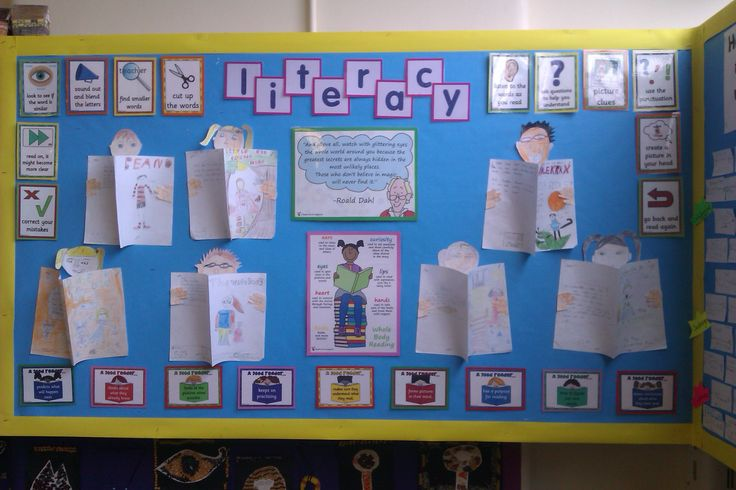 World book day - Children created their favourite book cover. The rest of the display is covered with reading prompts from t-pet.co.uk
