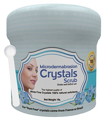 Exfoliating facial skin care, Get radiant, softer, brighter, younger-looking skin instantaneously, Reduces appearance of acne scars, blackheads, wrinkles, stretch marks, fine lines, sun spots, and age spots, Gentle, pharmaceutical-grade treatment provides professional results in the convenience of your home, Create your own cream and use on its own or with any microdermabrasion equipment