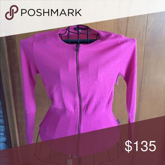 Versace Jeans Couture pink zip sweater Versace jean couture pink zip sweater Versace Sweaters Cardigans