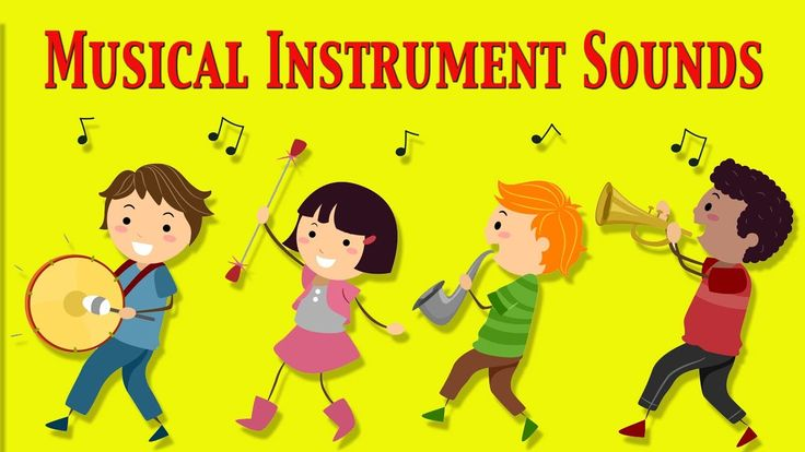 Musical Instruments Sounds For Kids ★ Part 1 ★ learn - school - preschoo...