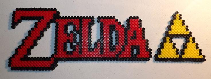 Zelda Title Perler Bead Art by kamikazekeeg on deviantART