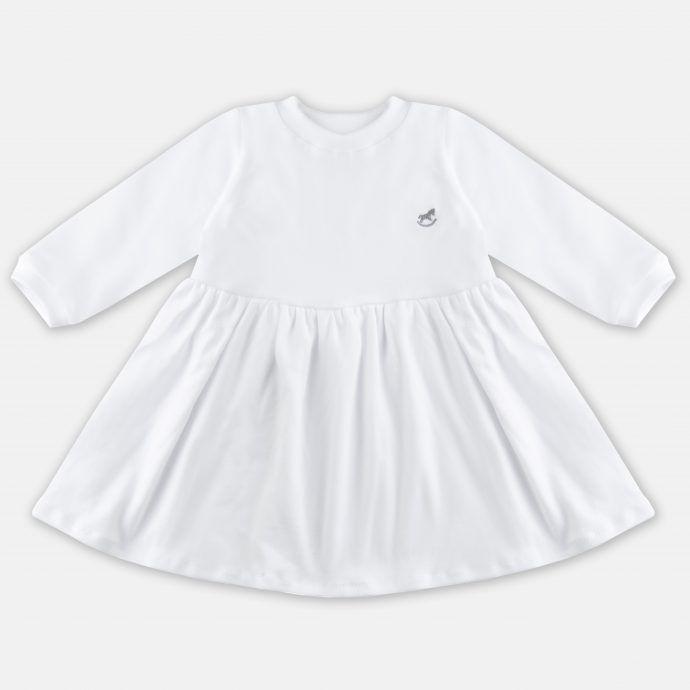 sukienka z dzianiny biała