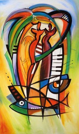 """Limited Edition Print """"Rhythm in the Tropics"""" by Alfred Gockel"""
