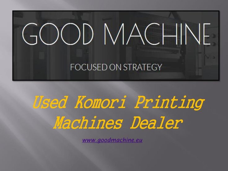 Used Komori Printing Machines Dealer in Europe - goodmachine | Good Machine is the best Dealer of Used Komori Printing Machines in Europe. We offer Used Komori L 428, komori L 528, Komori L 426 and Second Hand Offset Printing Machines. Buy printing machine with best price contact us.    https://goo.gl/AXk60a