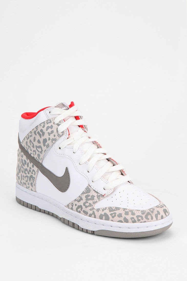 Shop Nike Animal Print Dunk High-Top Sneaker at Urban Outfitters today.