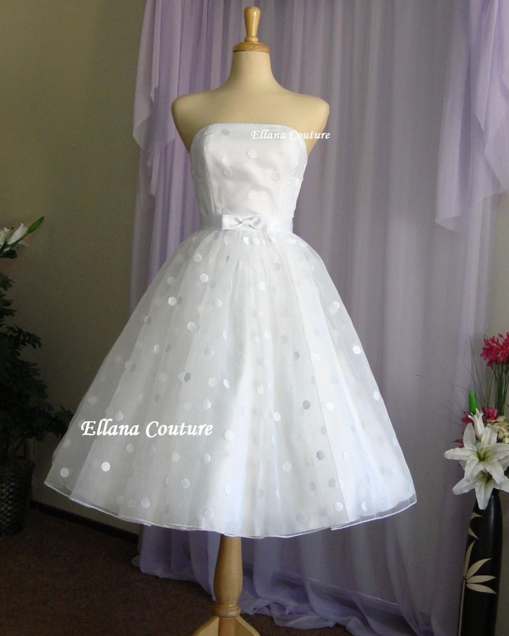 Best Polka Dot Wedding Dress Ideas On Pinterest Tea Wedding